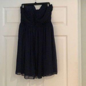 J. Crew Factory Dresses - JCrew Navy Strapless Dress